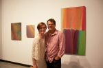 Cherry and Martin Gallery Owner Mary Leigh Cherry with artist Tony de los Reyes.