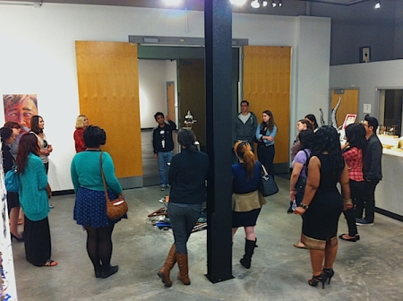 CSUF Prof. Karin Schnell class presenting docent tours as class assignment