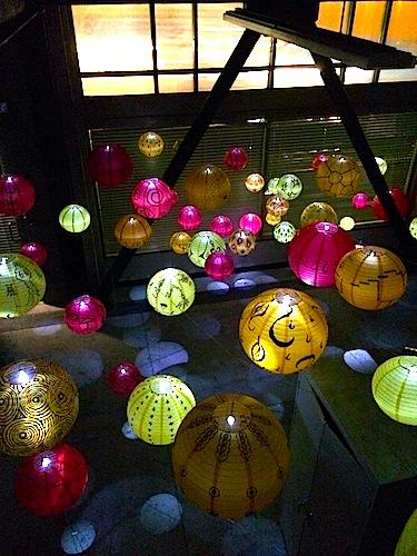 lanterns above